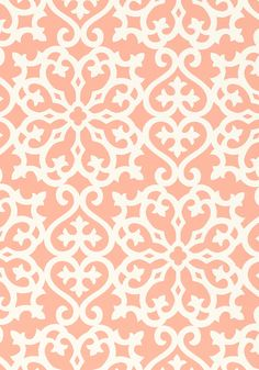 ALLISON #wallpaper Coral, T1831, Collection Geometric Resource from Thibaut