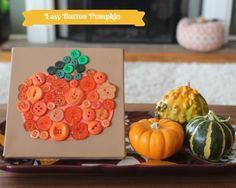 Easy-Button-Pumpkin-Crafts #kids #Halloween #DIY