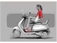 Sketches we like / Digital Sketch / Scooter sketch / Transportational / / at Swaroop Roy