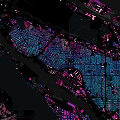 Start with simple data: building footprints, of them including the year that they were built. Justin Palmer of GitHub created this beautiful map of Portland's buildings with TileMill… Information Visualization, Data Visualization, Map Diagram, Rpg Map, Architecture Drawings, Architecture Diagrams, Architecture Portfolio, Urban Analysis, City Maps