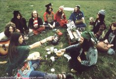 Hippie band Gong, early seventies.