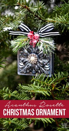 how to make an acanthus rosette christmas ornament with the help of mod podge handmade christmas treehomemade christmas ornamentschristmas decoration