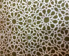 VTG fabric material Mosaic Pat Albeck Heals era 60's fabric remnant unused