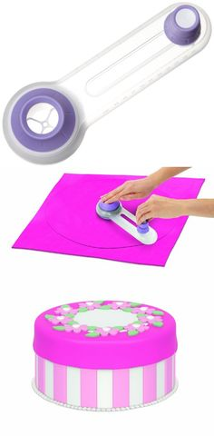 Wilton Fondant Circle Cutter, Cut perfect circles every time. Rotate the blade around Wilton Sugar Sheets. Edible Decorating Paper, Fondant or Gum Paste to make uniform rounds from 5-inch to 12.5-inch. The soft center base won't m..., #Kitchen, #Cake Toppers, $2.49