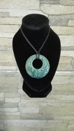Luminescent Green ceramic necklace Ceramic Necklace, Washer Necklace, Handmade Items, Necklaces, Ceramics, Green, Jewelry, Fashion, Hall Pottery