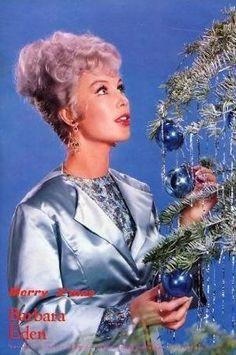 Barbara Eden.  She has lilac hair!  Love!!!
