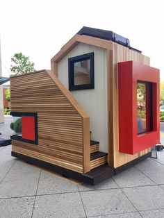 """Skygazer"" playhouse by Libby Raab Architecture Modern Playhouse, Build A Playhouse, Playhouse Outdoor, Cubby Houses, Dog Houses, Play Houses, Backyard Playground, Backyard For Kids, Tiny House Cabin"
