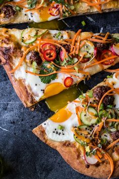 Have you ever seen a more stunning pizza?   Banh Mi Pizza   Vietnamese and Italian fusion recipe