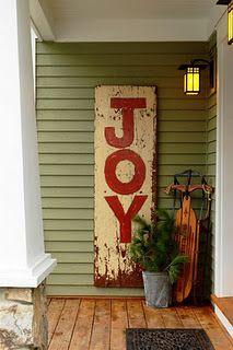 Front porch decor at Christmas!!