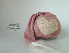 Upcycled Newborn Hat Baby Girl Hat Upcycled by simplycutieful
