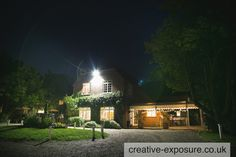Howfield Manor Hotel exterior venue photograph at night-photo by creative exposure photography - available for commissions uk & worldwide www.creative-exposure.co.uk