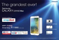 Samsung Galaxy Grand max at Rs 12,990 only on Snapdeal - Buy Samsung Galaxy Grand Max at Rs. 12990 only on Snapdeal Check more at http://www.wikinewsindia.com/tech-news/dataquest/samsung-galaxy-grand-max-at-rs-12990-only-on-snapdeal-buy-samsung-galaxy-grand-max-at-rs-12990-only-on-snapdeal/