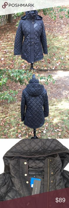 WOMAN MARC NEW YORK ANDREW MARC QUILTED JACKET This New Lightweight Puffer coat exhibits style,  practical use. Slimming-fit guilted Jacket, removable hood, fold over collar, slit hand pockets. Absolutely Perfect For Fall And Winter Seasons!!! NEW With Tags. 100% polyester Size: L MARC NEW YORK ANDREW MARC Jackets & Coats Puffers