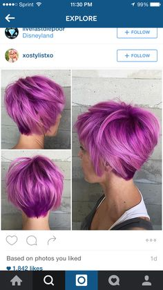 Short Purple