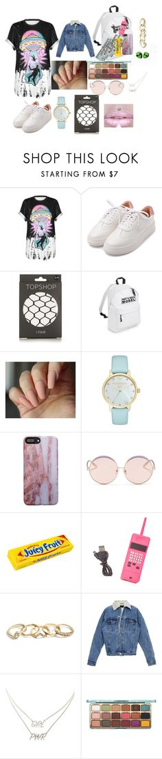 """""""Untitled #76"""" by girl-outfit ❤ liked on Polyvore featuring WithChic, Topshop, Kate Spade, N°21, Betsey Johnson, GUESS and Charlotte Russe"""
