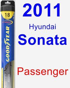 Passenger Wiper Blade for 2011 Hyundai Sonata - Hybrid