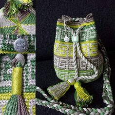 """New Cheap Bags. The location where building and construction meets style, beaded crochet is the act of using beads to decorate crocheted products. """"Crochet"""" is derived fro Crotchet Bags, Knitted Bags, Crochet Chart, Bead Crochet, Mochila Crochet, Tapestry Crochet Patterns, Tapestry Bag, Crochet Handbags, Cheap Bags"""