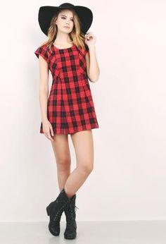 Plaid Babydoll Dress | Shop Dresses at Papaya Clothing