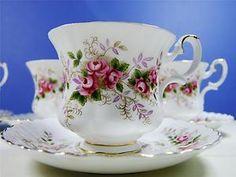 Vintage Floral Chic Royal Albert Lavender Rose