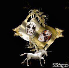 Masquerade gold & unicorn lightening