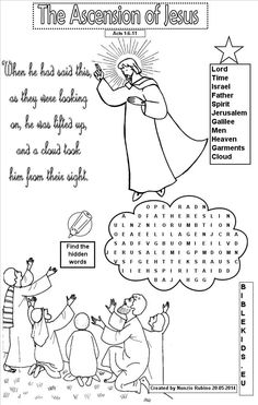 Word Search For Ascension Of Jesus