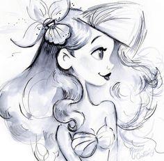 Little Mermaid Drawing Artwork