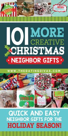 101 Super Easy Neighbor Christmas Gifts- this is the JACKPOT list of easy gift ideas for Christmas We've got the ultimate list of gift ideas to use during the holiday season. They're perfect as friend, teacher or neighbor gifts! Neighbor Christmas Gifts, Christmas Gifts To Make, Neighbor Gifts, Christmas Goodies, Holiday Gifts, Christmas Holidays, Christmas Crafts, Christmas Decorations, Cheap Christmas