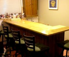 """The Dream. I have been dreaming of building my basement bar for about 10 years. My friends all have heard me say, """"I'm working on my bar…bla bla bla"""" since my 20s. I've been building parts to go in the bar for years. I've assembled materials and vintage pieces for just as long. After a couple of setbacks, physical injuries and missed start dates I finally, in the second half of 2014, built my bar. Hope you like it. I really do."""