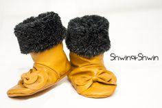 Baby Stiefel, Baby Schuhe mit Schleife und Fell I Baby Bow Boots || Free PDF Pattern, ca Size 5 Toddler (ca 20)