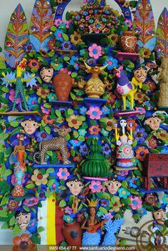 Árbol de la vida: representación de la artesanía mexicana. Elaborado en Metepec, Edo. de México. #mexicandecor