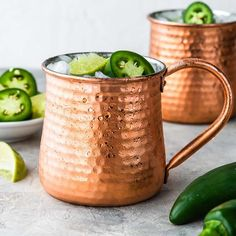 Tequila Moscow Mule with Jalapeno is a slightly spicy and refreshing cocktail that is similar to a traditional Moscow Mule but you replace the vodka with tequila. These can also be called Mexican Mule. #moscowmule #tequilacocktail #mexicanmule #spicycocktail #tequillacocktails