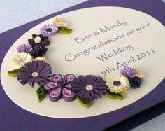 Tarjeta de felicitaciones de boda tubulares