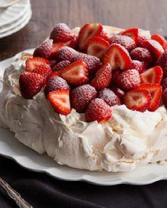 Low FODMAP Recipe and Gluten Free Recipe - Strawberry Pavlova