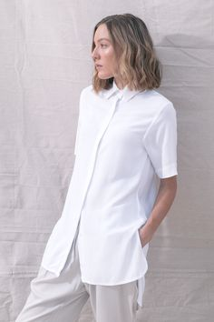 TGB EcoFashion Shop at http://the-great-beyond.com/product/bianca-shirt-white/ | Free Shipping Bamboo Clothing