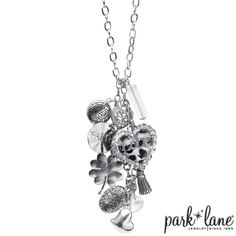 they took the full charm bracelet and hung it from the necklace