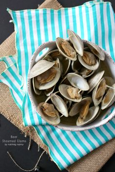 Beer Steamed Clams by Nutmeg Nanny