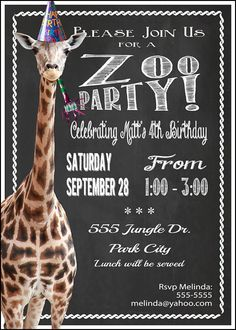 Printable Jungle Ticket Birthday Invitation Zoo Ticket