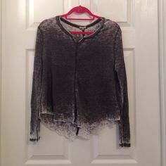 Urban Outfitters Grey Distressed Long Sleeve Shirt Urban Outfitters Grey Distressed Long Sleeve Shirt. Ecote brand. Urban Outfitters Tops Tees - Long Sleeve
