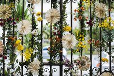 Decoração do portão de um casamento🌼🌻🌺🌸