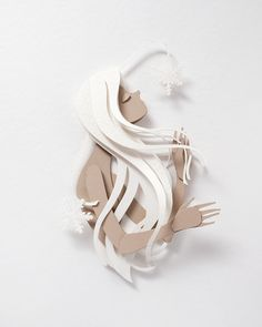 Snow Princess 3d Paper Art, Quilled Paper Art, Paper Crafts Origami, Paper Artwork, Kirigami, Lightbox Art, Silhouette Cameo, Paper Wall Hanging, Crochet Feather