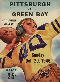 b3f8505e42e 1946 Packers vs. Steelers official program cover Football Images