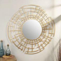Found it at Wayfair - Dimensional Wall Mirror Sunburst Mirror, Round Wall Mirror, Decor Interior Design, Interior Decorating, Tinted Mirror, Art Deco, Contemporary Wall Mirrors, Creative Walls, Mirrors