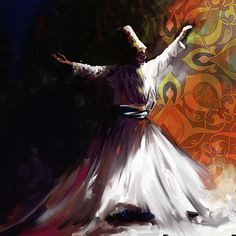 Browse through images in Corporate Art Task Force's Sufis and Mystics collection. Our paintings on Sufis and Mystics portray Sufis in a physically active form of meditation. Dancing Drawings, Dance Paintings, Portrait Paintings, Islamic Paintings, Turkish Art, Islamic Art Calligraphy, Caligraphy, Arabic Art, Impressionism Art