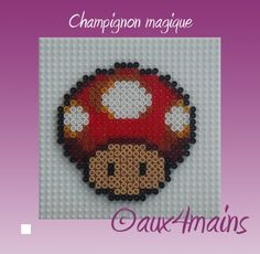 Toad - Mario Hama perler beads by aux4mains