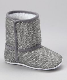 Take a look at this Silver Sparkle Booties by Under The Hooded Towels on #zulily today!