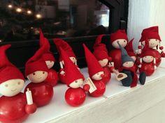 Finnish Christmas elf, by Aarikka. Little Christmas, Christmas Elf, Christmas Ideas, Christmas Crafts, Christmas Ornaments, Scandinavian Christmas, Xmas Tree, Beautiful Christmas, Elves
