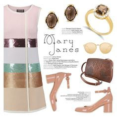 Sweet Mary Janes by blossom-jewels on Polyvore featuring polyvore fashion style Giambattista Valli Gianvito Rossi Linda Farrow clothing maryjanes contestentry Blossomjewels