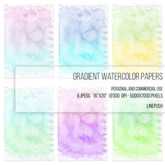 SALE! Printables, grunge, gradient watercolor paper. Boho, rainbow, digital paper, scrap, scrapbooking paper, wallpaper, background, clipart, doodle paper, hobo by LinePush on Etsy Doodle background