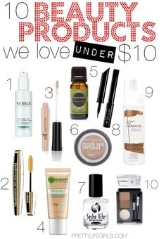 10 of the best beauty products under $10!
