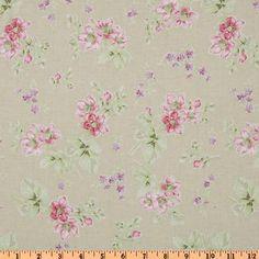 Treasures by Shabby Chic Wildflowers Medium Floral Tan - Discount Designer Fabric - Fabric.com $4.49/yard